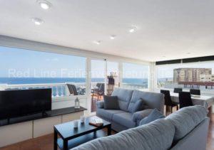Teneriffa Luxus-Ferienwohnung. Exklusive Ferienwohnung mit Pool, Meerblick und Terrasse in Candelaria